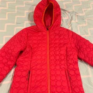 Pink down winter coat